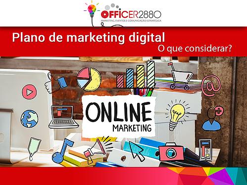 Marketing Online - Plano de marketing definido em desenhos