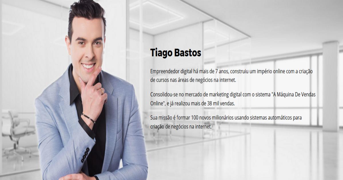 Marketing digital com ferramentas simples - Tiago Bastos Autor do método